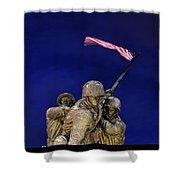 Iwo Jima Memorial Front View Shower Curtain
