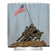 Iwo Jima Memorial Shower Curtain
