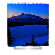 Jack Frost Blues Shower Curtain