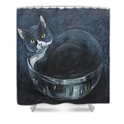 Jack-in-the-bowl Shower Curtain
