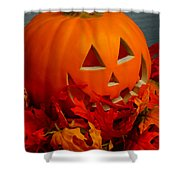 Jack-o-lantern Halloween Display Shower Curtain