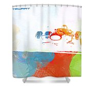 Jackie Stewart Shower Curtain by Naxart Studio