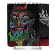 Jacko Shower Curtain by Karen Elzinga