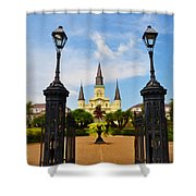 Jackson Square In New Orleans Shower Curtain