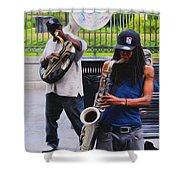 Jackson Square Jazz Shower Curtain