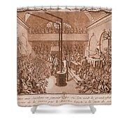 Jacobin Club Meeting Shower Curtain