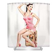 Jade Vixen Bubblegum 1076 Shower Curtain
