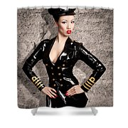 Jade Vixen Military 1143 Shower Curtain