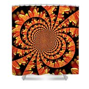 Jagged Petals Shower Curtain