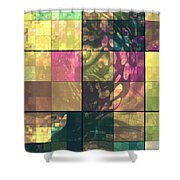 Jaguar Geo Pink And Green Shower Curtain