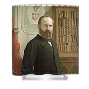 James A. Garfield, 20th American Shower Curtain