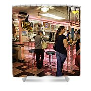 James Dean Hanging Out Shower Curtain