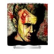 James Dean Zombie Shower Curtain