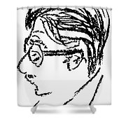 James Grover Thurber Shower Curtain