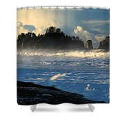 James Island Storm Shower Curtain