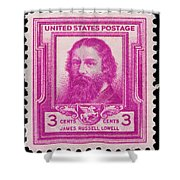 James Russell Lowell Postage Stamp Shower Curtain