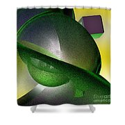 jammer Quantum View Shower Curtain