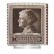 Jane Addams Postage Stamp Shower Curtain