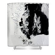 January 18, 2010 - Ross Sea, Antarctica Shower Curtain by Stocktrek Images