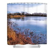 January Bass Pond 2 2012 Shower Curtain