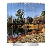 January Bass Pond 2012 Shower Curtain