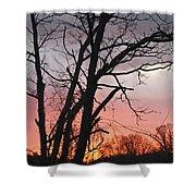 January Sunrise 3 Shower Curtain