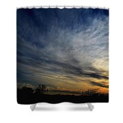 January Sunset 2012 Shower Curtain
