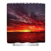 January Sunset Shower Curtain