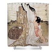 Japan: Abalone Diver Shower Curtain