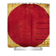 Japan Flag Postcard Shower Curtain