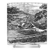 Japan: Nagasaki, 1858 Shower Curtain