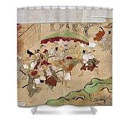 Japan: Peasants, C1575 Shower Curtain