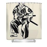 Japan: Samurai Shower Curtain