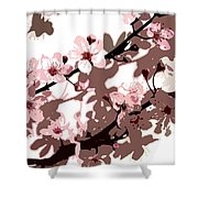 Japanese Blossom  Shower Curtain