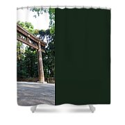 Japanese Entrance Gate On A Sunny Day Shower Curtain