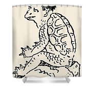 Japanese Folklore: Kappa Shower Curtain