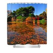 Japanese Garden Brooklyn Botanic Garden Shower Curtain