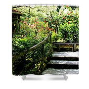 Japanese Garden Retreat Shower Curtain