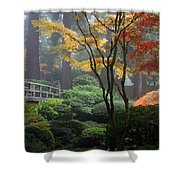 Japanese Gardens Fall Shower Curtain