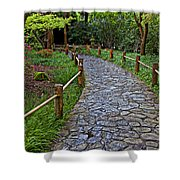 Japanese Tea Garden Path Shower Curtain