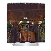 Jars Of Assorted Teas Shower Curtain
