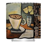 Java Coffee Languages Poster Shower Curtain