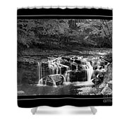 Java Falls Monochrome Shower Curtain