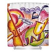 Jazz Deco Shower Curtain