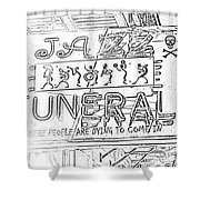 Jazz Funeral Sketch Shower Curtain