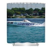 J.d. Byrider Offshore Racing Shower Curtain