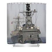 Jds Shimakaze Sails In Formation Shower Curtain