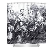 Jean Goldkette Orchestra 1926 Shower Curtain