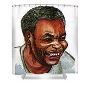 Jean Pierre Dikongue Pipa Shower Curtain