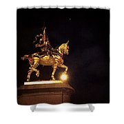 Jeanne D'arc And A Single Star Shower Curtain